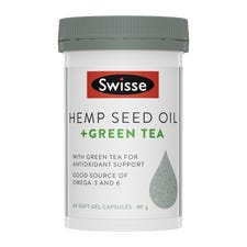 SWISSE HEMP SEED OIL + GREEN TEA